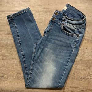 Encore high rise skinny distressed stretch jeans 9
